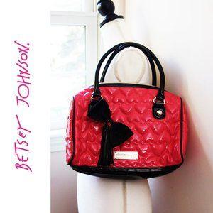 EUC, Betsey Johnson Hot Pink Puffy Shoulder Bag